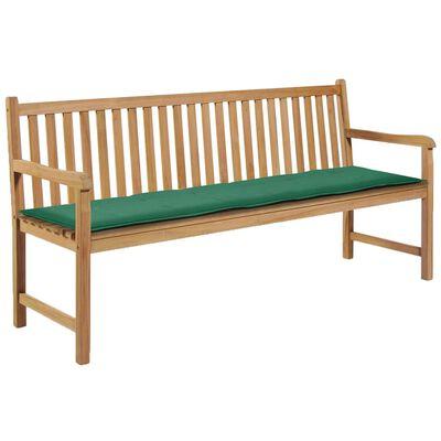 vidaXL Gartenbank-Auflage Grün 180 x 50 x 3 cm
