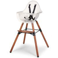 """CHILDHOME 2-in-1 High Chair with Bumper """"Evolu 2"""" Transparent"""