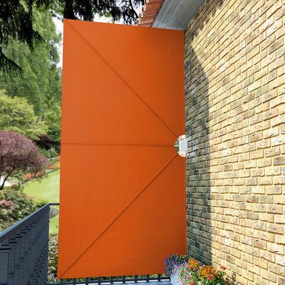 vidaXL Faltbarer Terrassen-Seitenfächer Terracotta-Rot 400×200 cm