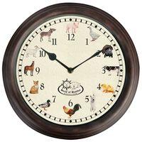Esschert Design Uhr mit Bauernhoftiergeräuschen
