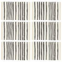 vidaXL Tischsets 6 Stk. Anthrazit und Weiß 30 x 45 cm Baumwolle