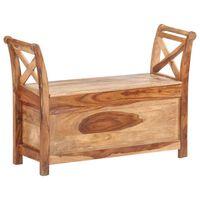 vidaXL Sitzbank 103 x 33 x 72 cm Massivholz Palisander