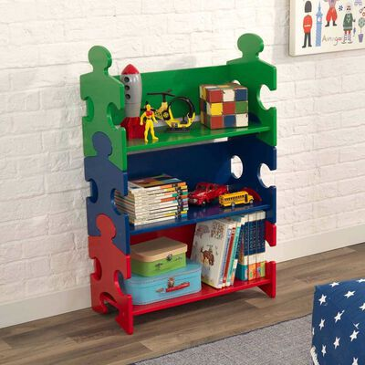 KidKraft Bücherregal in Puzzle-Form Mehrfarbig 62,7x29,5x97,2 cm 14400