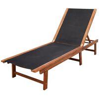 vidaXL Sonnenliege Akazie Massivholz und Textilene