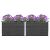 vidaXL Garten-Hochbeet 300 x 100 x 91 cm WPC Grau
