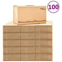 vidaXL Umzugskartons XXL 100 Stk. 60×33×34 cm