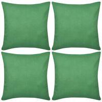 4 grüne Kissenbezüge Baumwolle 50 x 50 cm