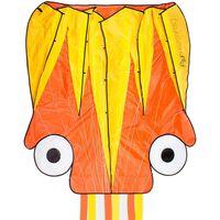 Dragon Fly Oktopus-Lenkdrachen 124×127cm Orange und Gelb