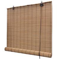 vidaXL Bambusrollo 150 x 160 cm Braun