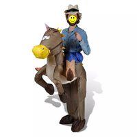 Cowboy & Pferd Kostüm Aufblasbar Faschingkostüm Karneval