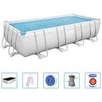 Bestway Power Steel Swimmingpool-Set Rechteckig 488x244x122 cm