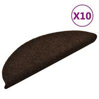 vidaXL Selbstklebende Treppenmatten 10 Stk. Braun 56x17x3cm Nadelvlies