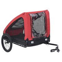 vidaXL Fahrradanhänger für Haustiere Rot und Schwarz