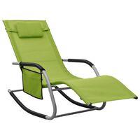 vidaXL Sonnenliege Textilene Grün und Grau
