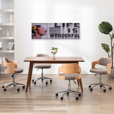 vidaXL Leinwandbild-Set Wonderful Mehrfarbig 120×40 cm