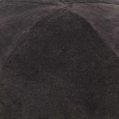 vidaXL Pouf Baumwollsamt 50×35 cm Anthrazit