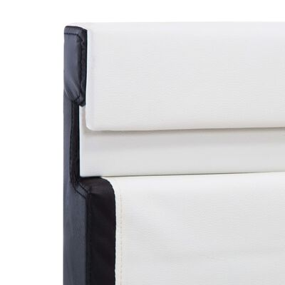 vidaXL Bettgestell mit LED Weiß Kunstleder 160×200 cm