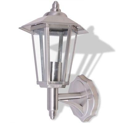 vidaXL Außenwandlampe Laterne Aufrecht Edelstahl