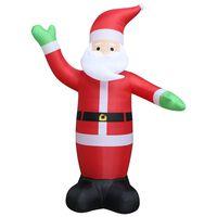 vidaXL Aufblasbarer Weihnachtsmann LED IP44 600 cm XXL
