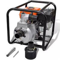 vidaXL Wasserpumpe Benzin 50 mm Schlauchanschluss 6,5 PS