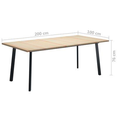 vidaXL Esstisch 200x100x76 cm Kiefernholz