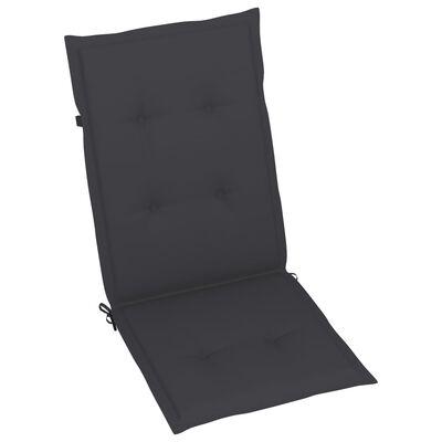 vidaXL Verstellbare Gartenstühle 6 Stk. mit Auflagen Massivholz Akazie
