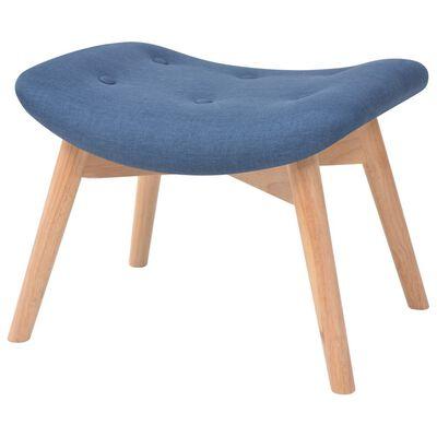 vidaXL Sessel mit Fußhocker Blau Stoff