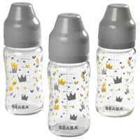 Beaba Weithals Babyflaschen-Set 3 Stk. 240 ml Glas