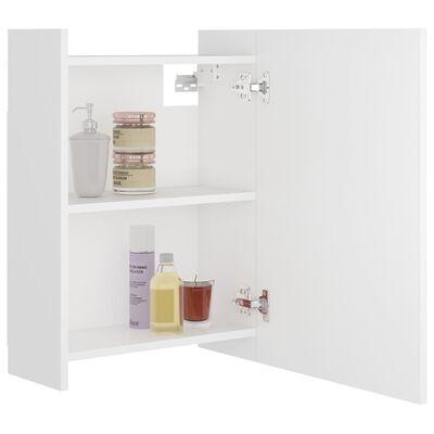 vidaXL Bad-Spiegelschrank Weiß 62,5x20,5x64 cm Spanplatte