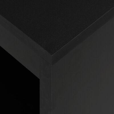 vidaXL Bartisch mit Regal Schwarz 110 x 50 x 103 cm