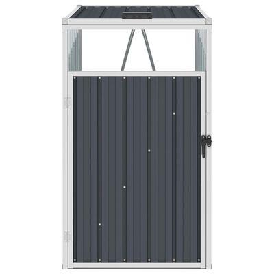 vidaXL Mülltonnenbox Anthrazit 72×81×121 cm Stahl