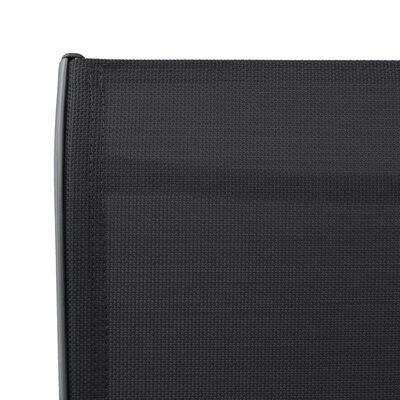 vidaXL Garten-Barstühle 4 Stk. Grau Textilene