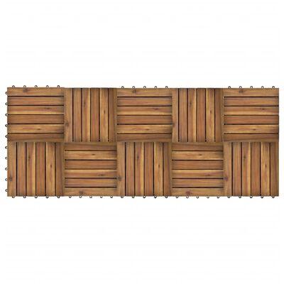 10 x Fliese aus Akazienholz 30 x 30 cm vertikales Muster