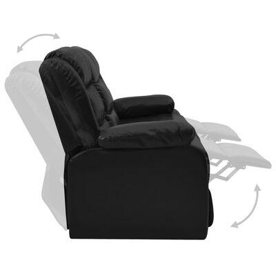 vidaXL 3-tlg. Sofagarnitur Verstellbar Schwarz Kunstleder