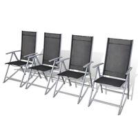 vidaXL Klappbare Gartenstühle 4 Stk. Aluminium
