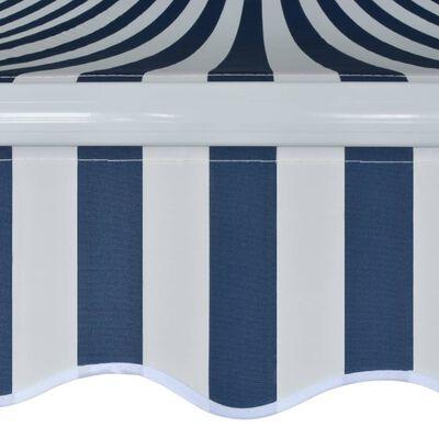 vidaXL Gelenkarmmarkise Handbetrieben 500 m Blau und Weiß