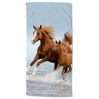 Good Morning Strandtuch FREE 75x150 cm Braun und Blau