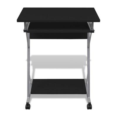 Computertisch Computerwagen PC Tisch Bürotisch Laptop Rollen schwarz