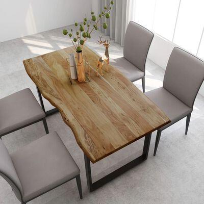 vidaXL Esstisch 160x80x76 cm Massivholz Akazie