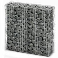 vidaXL Steinkorb Gabione mit Deckeln Verzinkter Draht 100×100×30 cm