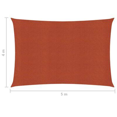 vidaXL Sonnensegel 160 g/m² Terrakottarot 4x5 m HDPE