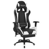 vidaXL Bürostuhl Gaming-Stuhl Neigbar mit Fußstütze Weiß