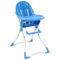 vidaXL Baby-Hochstuhl Blau und Weiß