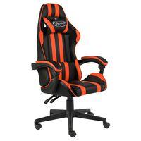 vidaXL Gaming-Stuhl Schwarz und Orange Kunstleder