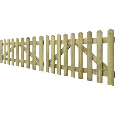 vidaXL Lattenzauntore 2 Stk. Imprägniertes Holz 300 x 80 cm