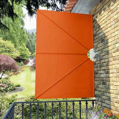 vidaXL Faltbarer Terrassen-Seitenfächer Terracotta-Rot 240×160 cm