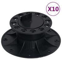vidaXL Stelzlager Verstellbar 10 Stk. 60-88 mm
