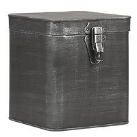 LABEL51 Aufbewahrungsbox 18x19x21 cm XL Antik-Schwarz