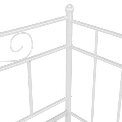 vidaXL Schlafsofa Bettgestell Weiß Metall 90x200 cm