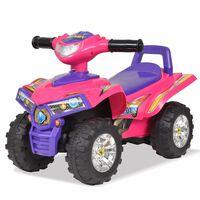 vidaXL Kinder Geländefahrzeug ATV mit Sound und Licht Rosa und Lila
